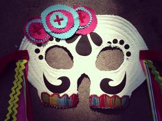 DIY Day of the Dead Skull Mask >> http://blog.diynetwork.com/maderemade/how-to/make-a-day-of-the-dead-skull-mask?soc=pinterest