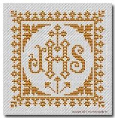 Risultati immagini per Lily altar filet crochet Religious Cross Stitch Patterns, Cross Stitch Borders, Cross Stitch Kits, Cross Stitching, Filet Crochet Charts, Catholic Crafts, Altar Cloth, Christian Crafts, Crochet Patterns