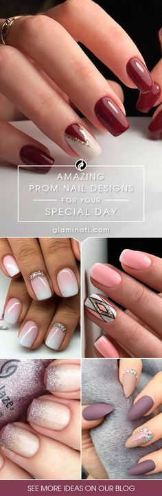 Fabulous designs for your prom nails are waiting for you here. See our collection, get inspired, and be ready to show them all who is the real beauty. Elegant Nail Art, Elegant Nail Designs, Nail Designs Spring, Cute Nail Designs, Designs For Nails, Nails Design, Simple Acrylic Nails, Summer Acrylic Nails, Homecoming Nails