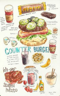 Nov. 26th Beef Day~The Counter. Had lunch with my boss, Marla and ex-designer who came in to handover works today. Um..I'd better change the title from Cooking Diary to Food Diary..