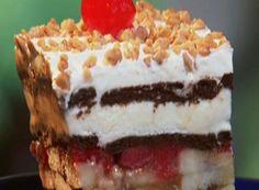Ice Cream Banana Split Cake Recipe