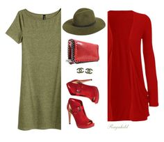"""Red & Green"" by ragnh-mjos ❤ liked on Polyvore featuring rag & bone, MICHAEL Michael Kors and Chanel"
