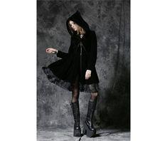 Jw102 gothic dark velvet jacket like dress with pleated hem  hoodies and sweatshirts 6