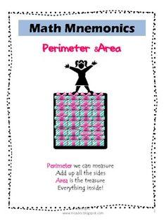 Math Mnemonics- Perimeter and Area