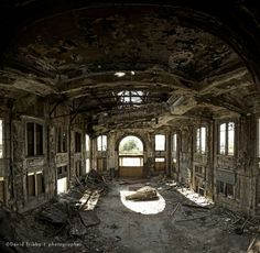 """David Tribby's """"Forgotten Cities"""" - documenting the decaying architecture of Gary, Indiana. Very haunting images"""