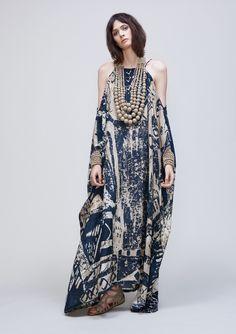 Silk Kaftan Dress -UZ