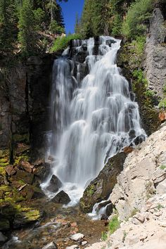 King's Creek Falls in Lassen Volcanic National Park, California