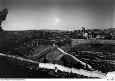 A general view of Jerusalem from the Mount of Olives. This is the left hand image of a three part panorama. See for the combined image. This is an original Paget Plate negative.Ottoman Empire: Palestine, Jerusalem, c Frank Hurley. Mount Of Olives, Hand Images, Ottoman Empire, Palestine, Left Handed, Jerusalem, Hurley, Egypt, Plate