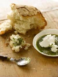 Basil Pesto with Ricotta Cheese and Ciabatta Bread