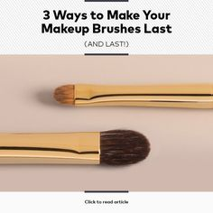 3 Ways to Make Your Makeup Brushes Last. Real Techniques Brushes, Makeup Techniques, Makeup 101, Diy Makeup, Makeup Tools, Makeup Ideas, How To Clean Makeup Brushes, How To Apply Makeup