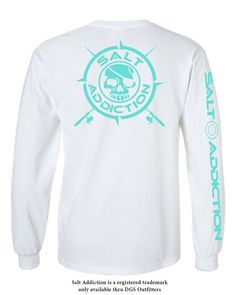 Fish Bones T-shirt Long Sleeve Tee Graphic Decal Fishing Gifts for Men