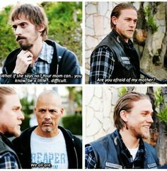 Are you afraid of my mom? Gemma. Sons of anarchy