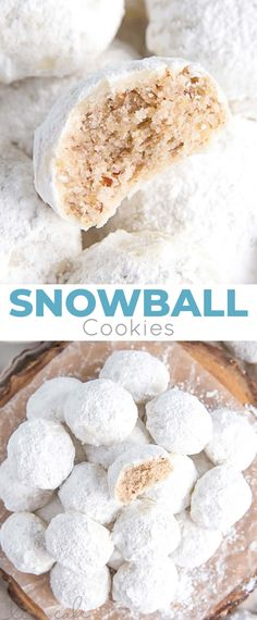 These Snowball Cookies are buttery, melt-in-your-mouth delicious! Pecan cookies with a hint of cinnamon dusted with powdered sugar. | livforcake.com