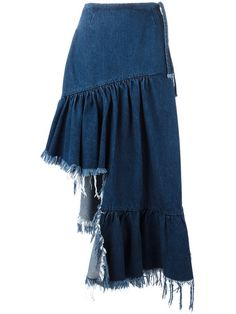 Marques'almeida asymmetric denim skirt