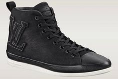 $720 Louis Vuitton Fastball High Top Sneakers either featured in premium leather or jersey fabric which makes for a great look respectively. The highlight of this model, of course, is the enlarged LV logo which is placed on the side panel of the construction