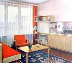 1960s Soviet Living Room Interiors
