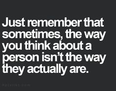 Just remember...