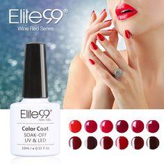 Elite99 1Pcs 10ml Wine Red Series Set For Nail Gel Polish Soak Off Gel Polish With UV Lamp Nail Polish Gel Varnish
