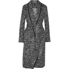 Marissa Webb Brighton brushed-felt coat ($299) ❤ liked on Polyvore featuring outerwear, coats and felt coat