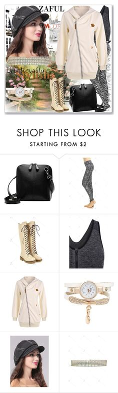 """""""Zip Up Hoodie-zaful.com"""" by ane-twist ❤ liked on Polyvore featuring zaful"""