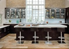 Contemporary home remodel kitchen bath lights concrete sinks - National - from Housetrends, your destination for inspiration