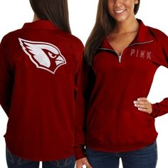 Victoria's Secret PINK Arizona Cardinals Ladies Half-Zip Sweatshirt - Red