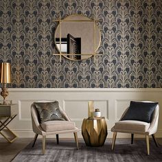 Art Deco Black and Gold Wallpaper | Graham & Brown UK