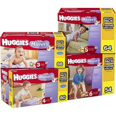 HUGGIES - Little Movers Diapers (Choose Your Size)
