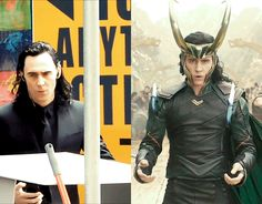 I'll take the armored Asgardian attire over a black suit.