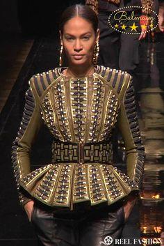 ★ Joan Smalls for Balmain ★ Fall/Winter 2014-15 ★ From the Runway at Paris Fashion Week ★  http://reelfashion.tv/balmain-fashion-show-fall-2014-paris/