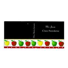 Colorful Apples Teachers Binder