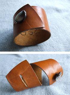 leather cuff bracelet...