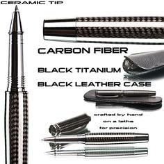Carbon fiber Rollerball Pen Writing Pen Handcrafted by TrobeePens, $119.99