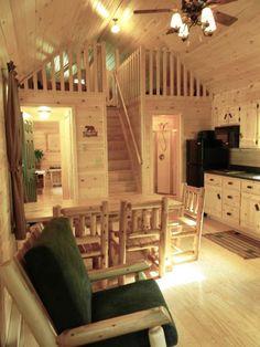 Interior with custom loft stairs