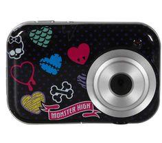 """Die Digitalkamera Monster High von TECH TRAINING zeigt sich in einem gepflegten und besonders modernen Design.    Mit einem 2.1-Megapixel-Sensor und einem Bildschirm von 3,8 cm (1,5"""") ermöglicht die Kamera Kindern, nach Lust und Laune zu fotografieren. Der interne Speicher bietet Platz für bis zu 120 Fotos.    Das Produkt TECH TRAINING kann sogar als Webcam dienen."""