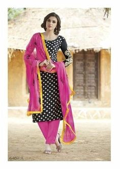 12439f857f and On bhagalpuri silk fabric printed top with Pink bottom, embroidery on  sleeves, chiffon fabric soft dupatta.