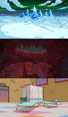 Here's some backgrounds I did for Adventure Time on Cartoon Network. Adventure Time is colored by Martin Ansolabehere, Sandra Calleros, and Ron Russell. Adventure Time Lady and Peebles Backgrounds Cartoon Background, Game Background, Animation Background, Landscape Drawings, Landscape Art, Samurai Jack Background, Adventure Time Games, Adventure Time Background, Dream Illustration