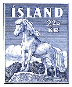 iceland,icelandic horse,pony,postage stamp,vintage,little pony,postage,stamp,ephemera,fauna,equestrian,equine,scandinavia,mail,postal,glacier,iceland stamp