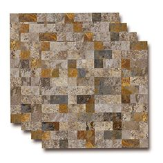 6X6, Sample Sheet Natural Shell Mosaic Wall Tile in White Shell Yipscazo Mother of Pearl Shell Kitchen Backsplash