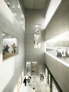 EM2N to Build Basel's New Museum of Natural History and State Archives,Tower hall State Archives Basel-City. Image © EM2N