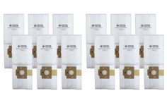 12PK Replacement Cloth Vacuum Bags for Simplicity Canister Vacuums, Type F, Part No. SF-6