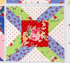 Back to School with Pam Kitty: Row 2 - Fat Quarter Shop's Jolly Jabber- West Virginia p.88.
