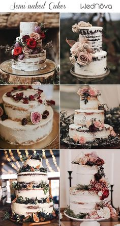 Amazing Rustic Wedding Cakes - Torte hochzeit - For Life Food How To Make Wedding Cake, Pretty Wedding Cakes, Floral Wedding Cakes, Wedding Cake Rustic, Beautiful Wedding Cakes, Wedding Cake Designs, Wedding Cake Toppers, Rustic Weddings, Rustic Cake
