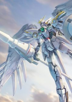 "apsalusiv: "" Katoki recently did an illustration based upon a customized RG kit that made it into Gundam ACE. While Wing Zero isn't exactly my favorite, this is still a pretty great work of art. Arte Gundam, Gundam Wing, Gundam Art, Sci Fi Anime, Mecha Anime, Gundam Iron Blooded Orphans, Arte Robot, Gundam Wallpapers, Gundam Mobile Suit"