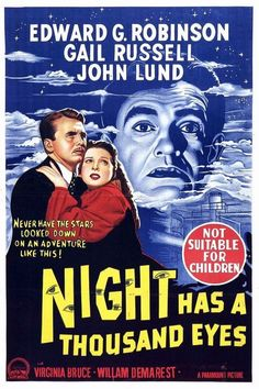 """Night Has a Thousand Eyes"" (1948) -  Edward G. Robinson"