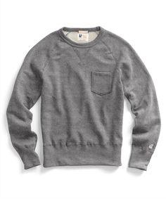 Classic Pocket Sweatshirt in Salt and Pepper