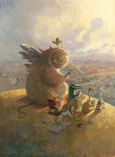 Okay, I'll join THIS book club: Our Tuesday Afternoon Reading Group by Shaun Tan