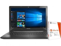 """Notebook Lenovo G50 Intel Core i7 - 8GB 1TB LED 15,6"""" + Pacote Office 365 com as melhores condições você encontra no Magazine Docedigital. Confira!"""