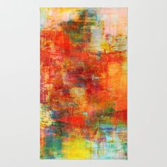 """Autumn Harvest"" by Ebi Emporium on @Society6 Art Area Rug, Modern Home Decor Colorful Fine Art Abstract Fall Painting Burnt Orange Red Yellow Green #autumn #autumndecor #colorful #orange #abstract #fineart #art #painting #falldecor #fall #arearug #rug #artrug #decorative #dorm #homedecor #EbiEmporium #Society6"