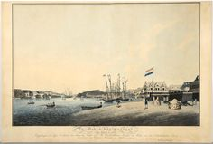 Saint Anna bay, pictured in a 1822 aquatint (etching technique based on powdered rosin to create a tonal effect). Source: Maritiem Museum Curaçao